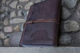 leather scrapbook california leather journal leather from trekkerleatherco