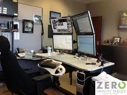 stand up desk multiple monitors standing desk for multiple monitors desk ideas
