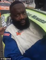 Rick Ross Bra Meme - rick ross gets stuck in the window of a nascar race car daily mail