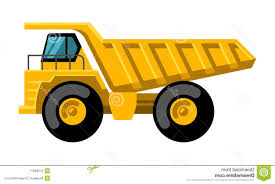 top 10 mining dump truck flat design vector icon tipper big heavy