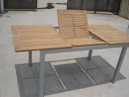 Teak Outdoor Dining Table And Chairs Gorgeous Expandable Outdoor Dining Table With Extendable Table In