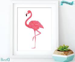 Flamingo Home Decor Watercolor Flamingo Art Printflamingo Printableart Home Wall