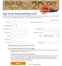 Bed Bath Beyond In Store Coupon Bedbathbeyond Sign Up 201 Png
