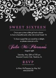 Sweet 16 Invitations Cards Sweet 16th Birthday Invitations Templates Free Drevio