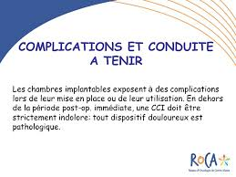 chambre implantable complications les chambres a catheter implantables cci ppt