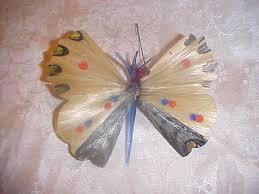 vintage germany spun glass wings butterfly