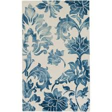 Blue And White Area Rugs Navy Blue And White Area Rug Wayfair