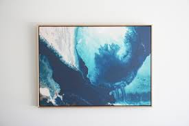 ocean print 3 framed canvas print by jacqui macumber the block