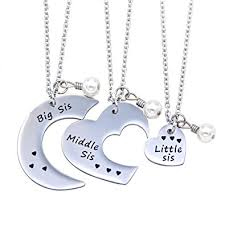 best friend pendant necklace images O riya big sis middle sis little sis jewelry necklace jpg