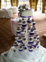 purple and silver cupcake fountain wedding misc pinterest