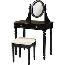 vanity and bench set with lights furniture inspiring makeup vanity table with glass top and wall
