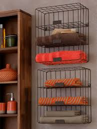 adorable wall mounted iron rail towel storage feature wooden