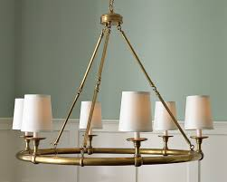 Brass Dining Room Chandelier 6 Light Chandelier Antique Brass Williams Sonoma
