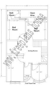 20x40 feet house plan plans pinterest