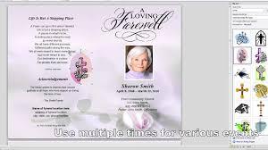 printable funeral program templates free printable funeral program template best business template
