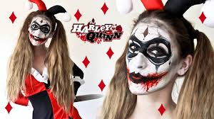 The Joker And Harley Quinn Halloween Costumes Harley Quinn Makeup Look How To Face Paint Youtube