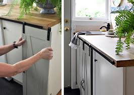 kitchen cabinet sliding doors make mini barn doors for cabinets this house
