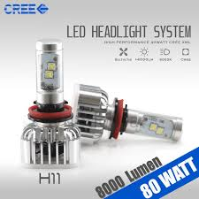 Cree Dimmable Led Light Bulbs by Cree 6000k High Power Led Headlight Bulb 8000 Lumen 80w