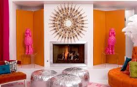 Pink And Orange Living Room Design Ideas  Pictures - Orange living room design