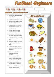 76 free esl breakfast worksheets