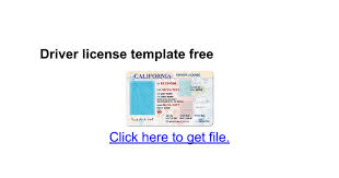 driver license template free google docs