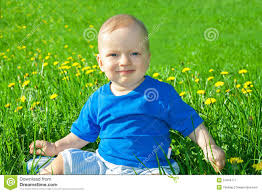 Small Beautiful Pics Small Child The Boy Plays On A Green Meadow Stock Image Image
