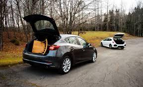 mazda 3 hatchback comparison test 2017 honda civic hatchback vs 2017 mazda 3 5 door