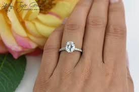 2 carat ring 2 carat oval solitaire ring engagement ring half eternity