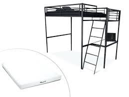 bureau pour mezzanine lit mezzanine 2 places en bois amazing lit mezzanine ikea lit