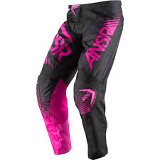 new motocross gear answer 2017 mx new syncron jersey pants pink black womens