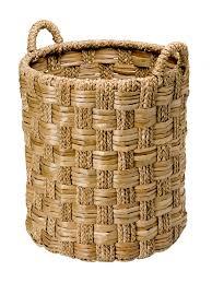 amazon com kouboo round braided seagrass basket large home
