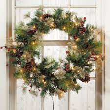 Lighted Decorated Christmas Wreaths decoration ideas captivating images of christmas decoration with