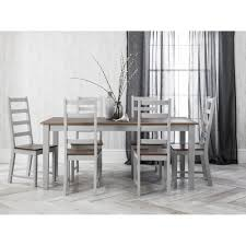 white table with bench canterbury dining table with 6 chairs in silk grey noa nani