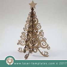 christmas laser cut tree template online 3d vector design