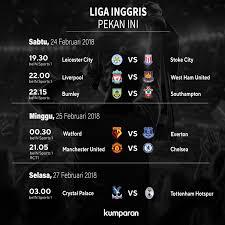 Jadwal Liga Inggris Jadwal Siaran Langsung Liga Inggris Manchester United Hadapi