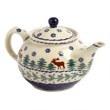 deer pine pottery handmade teapot tree shops