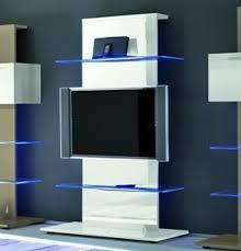 mensole laccate lucide colonna porta tv moderna con 2 mensole in vetro l 104 h 169 cm