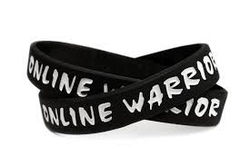 black bracelet rubber images Online warrior rubber wristband competitive gamer gaming warrier jpg