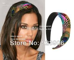 hair bands for women peacock rainbow feather hairband women s hair accessory s