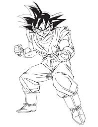 imagenes de goku para dibujar faciles con color dibujos para colorear de goku 1 dibujos para colorear