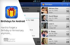 android reminder app birthdays android birthday reminder app and widget aw center