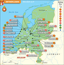 netherlands map images netherlands golf map with top golf courses