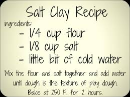 diy salt clay recipe great for jewelry and or ornaments 2 cups