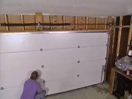 garage install a garage door home garage ideas