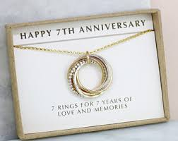 7th wedding anniversary gifts for 7th anniversary gift etsy