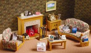 Country Living Room Set By Sylvanian Families  Furniture - Sylvanian families living room set