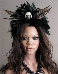 reserved voodoo priestess witchdoctor feathered headband