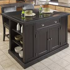 granite top kitchen island table beachcrest home rabin 3 kitchen island set with granite top