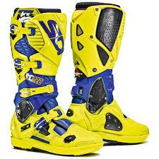 motocross boots sidi sidi mx boots crossfire 3 srs tc222 yellow blue 2017 maciag