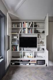 Living Room Tv Wall Design by Tv Wall Design Idea Hide Shelves With Large Custom Made Cabinet